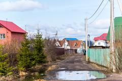 Andreevka, Russia General view of  small town in - stock photo