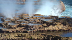 Blowholes, HD, UP15949 Stock Footage
