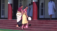 Tongan women entering church, people or person in shot, HD, UP15980 Stock Footage