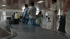Airport Baggage Claim Area Stock Footage