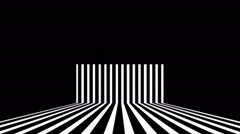 Black And White Stripes Vj Loop Club Visual Background Stock Footage