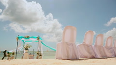Wedding ceremony on the beach Stock Footage