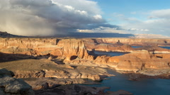 Time Lapse Overlooking Lake Powell from Alstrom Point Stock Footage