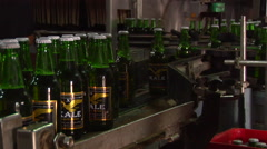 Bottles piling up, beer factory, HD, UP16115 - stock footage