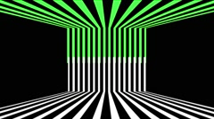 Green White  Stripes Vj Loop Club Visual Background Stock Footage