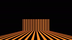 Orange Stripes Vj Loop Club Visual Background Stock Footage
