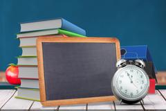 Composite image of school objects - stock illustration