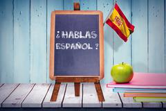 Composite image of digitally generated spain national flag - stock illustration