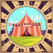 Circus Cartoon Poster - stock illustration