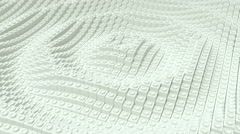 Ripples made of white blocks. Stock Footage