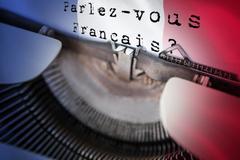 Composite image of parlez vous francais - stock illustration