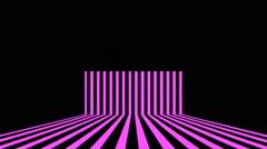 Purple Lines Vj Loop Club Visual Background Stock Footage