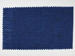 Blue fabric sample - stock photo