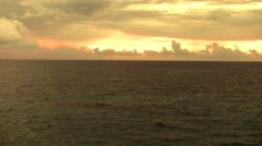 Sunrise Off Beach In Barbados Stock Footage