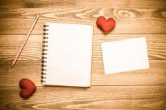 Love message or invitation Stock Photos
