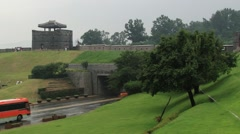 View to Hwaseong fortress wall in Suwon, Korea. Stock Footage
