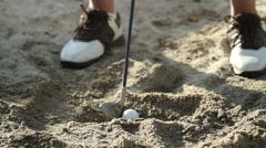 Golfball in Sand Trap - stock footage