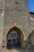 Stock Photo of Arch Entrance of The Medieval Town of Perouges