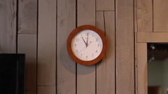 Clock Ticking Push In Stock Footage