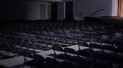 Auditorium empty seats - stock footage