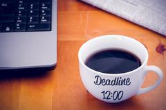 Composite image of deadline sentence - stock photo