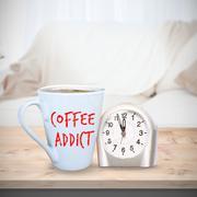 Composite image of coffee addict - stock photo
