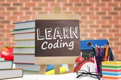 Composite image of learn coding - stock illustration