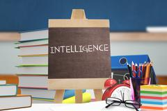 Composite image of intelligence word - stock illustration