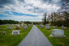 Pine Grove Cemetery in Mount Airy, Maryland. Stock Photos