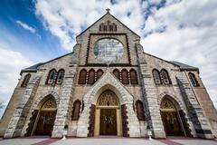 The Church of the Immaculate Conception, in Towson, Maryland. Stock Photos