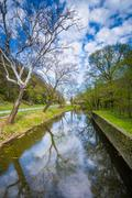 The Shenandoah Canal, in Harpers Ferry, West Virginia. Stock Photos