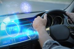 Composite image of technology car interface - stock photo