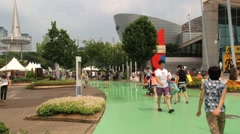People visit Daejeon Expo in Daejeon, Korea. Stock Footage