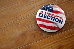 2016 Presidential Election Button Stock Illustration