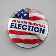 2016 Presidential Election Button Stock Illustration