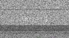 Television screen with static noise caused by bad signal reception Stock Footage
