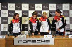 National Women Tennis Team of Germany during a press conference Stock Photos