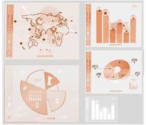 Global business interface - stock illustration