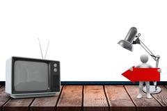 An old TV - stock illustration