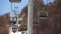 Ski Lift  Time Lapse - stock footage