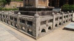 Exterior of the stone column in Haeinsa temple building in Haeinsa, Korea. Stock Footage