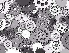 The abstract mechanism which consists of a set of gears Stock Footage
