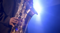 African American Jazz Musician Blues Club Performer  Stock Footage