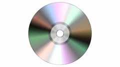 Single disc cd dvd isolated on white background. Stock Footage