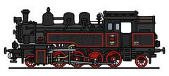 Classic steam locomotive - stock illustration