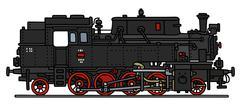 Old steam locomotive Stock Illustration