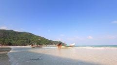 Landscape of Thai seaside. Stock Footage