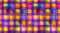 Colorful abstract  seamless texture vertical motion video  3D illustration Stock Footage