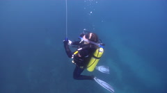 Scientific diver in Australia, HD, UP26521 Stock Footage