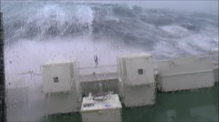 Storm Gertrude from the North Sea Stock Footage